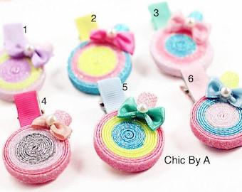 Lollipop Hair Bows,Sculptured Lollipop Hair Bow,Candy Hair Bow