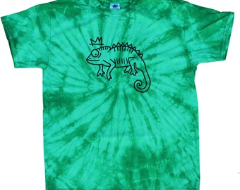 Royal Chameleon Tie Dye T Shirt
