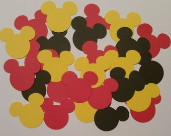 300 Mickey Mouse Confetti, Mickey Mouse Birthday, Mickey Mouse Baby Shower, Minnie Mouse Theme Party, Mickey Mouse Die Cuts