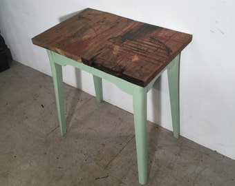 Artistic Reclaimed Pine Rustic End Table