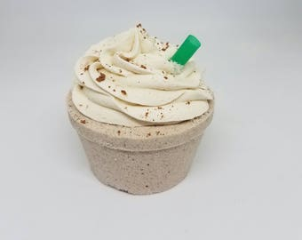 Caramel Macchiato Scented Bath Bomb inspired by Starbucks