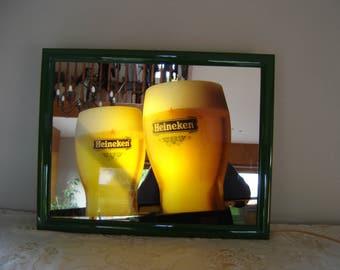 Enseigne lumineuse bière Heineken. Neon dutch beer signboard  for your bar. Pays bas