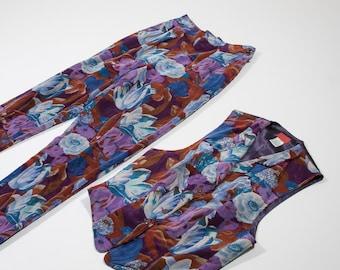 KENZO - Floral corduroy suit
