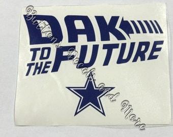 Dak to the Future - Dallas Cowboy Zeke Elliott Decal - Windows, Vehicles, Walls, Golf Carts