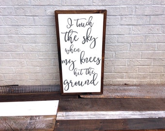 I touch the sky | 1'x2' | custom sign | wood sign | gallery wall | lyric art | home decor