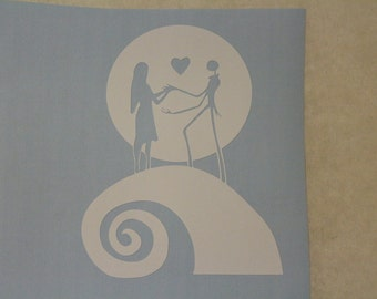 Nightmare Before Christmas Love Decal Any Size Any Colors