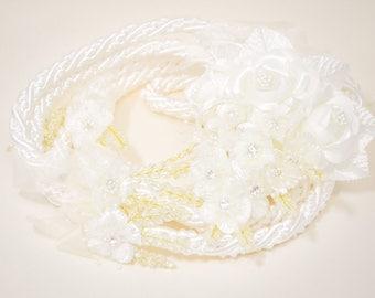 Ivory Wedding Lasso - Silk Flower Wedding Lasso - Lazo de Boda - Lazo para Boda - Traditional Wedding Lasso