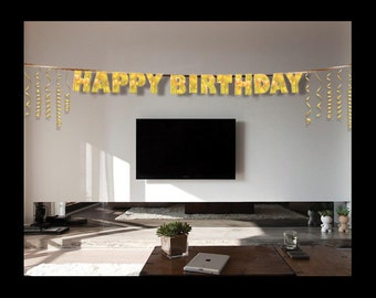 BUNTING LETTERS | Happy Birthday | Party Decor | Party Supplies