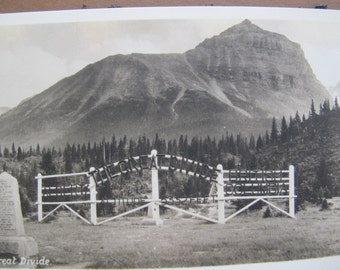 The Great Divide Alberta Real Photo Postcard (unposted) / Associated Screen News Post card / CPR Railway RPPC
