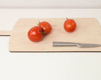 Big plywood cutting board - Wooden chopping board - Thin cutting board - Big cutting plate - Minimalistic chopping board - Kitchen gift
