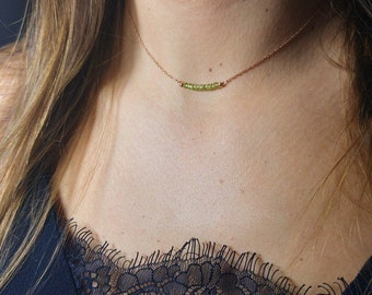 Peridot necklace * and fine chain