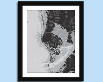 Tampa Bay - Tampa Bay Chart - Nautical Chart Decor