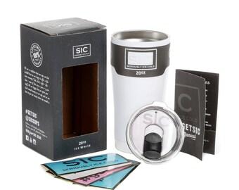 White SIC 20oz Tumbler, Custom Engraved Tumbler, Monogrammed SIC Tumbler, Custom Sic Cup, sic cup