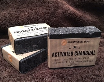 Activated Charcoal Handmade Soap Fragrance Free