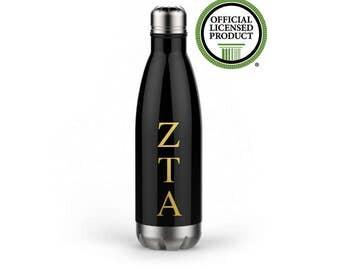Zeta Tau Alpha Water Bottle, Zeta Tau Alpha, Sorority Gift, Sorority Water Bottle, Greek Water Bottle, Zeta Gift, Zeta Water Bottle, ZTA