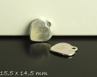 10 followers stamp heart silver 15.5 x 14.5 mm