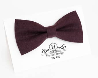 Purple Bow Tie For Wedding / -  Bow Tie For Groomsmen / Boy's / Toddler's / Men