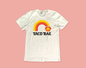 Taco Bell Taco Bae Distressed Graphic Tee - Womens Taco Bell Graphic Tee