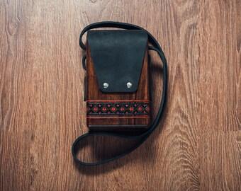 Brown Wooden Bag Sycamore Wood Bag - Women Handbag - Woman Handbag - Birthday gift - Messenger Bag - Crossbody bag - ethnic bag - Ladies Bag