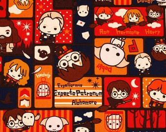 """Harry Potter Character Oxford Fabric made in Japan FQ 45cm by 53cm or 18"""" by 21"""""""
