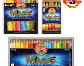 Magic crayon colored pencils set 3408 3404 jumbo triangular KOH I NOOR drawing coloring multicolored special new