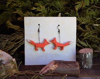 Running Fox Earrings