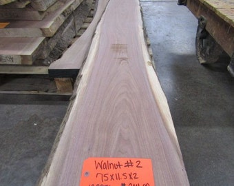"2"" T x 11.5""W x 75""L -Walnut slab #2"