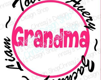 Grandma svg file / Grandmother svg / grandma gifts svg / grandma studio layout / grandma circle frame / vinyl crafts / grandma clip art