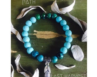 last harvest bracelet chysocolla and turquoise