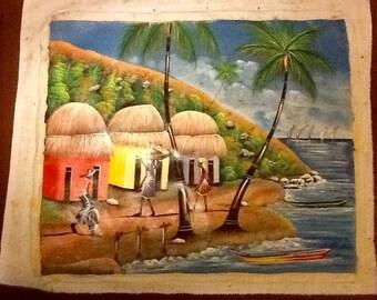 "Haitian Art ""By the Sea"""