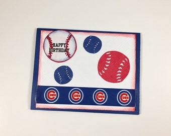 Chicago Cubs,Chicago Cubs card,Chicago Cubs birthday,Card for Chicago Cubs fan,Chicago Cubs party,MLB Chicago Cubs,Chicago cubs collectible
