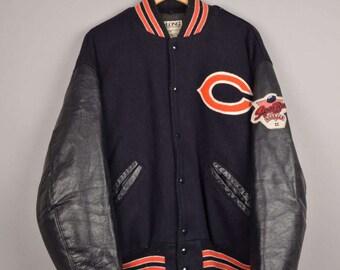 delong baseball jacket, chicago bears jacket, chicago bulls, ny yankees, starter bomber jacket, vintage varsity jacket, raiders jacket