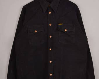 vintage wrangler blouse, wrangler shirt, vintage shirt, wrangler denim shirt, vintage shirt