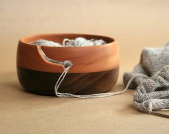 American Black Walnut and Fijian Mahogany Yarn Bowl