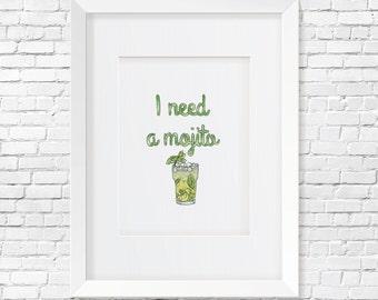I need a Mojito print