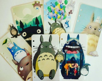 Totoro Planner dividers/ A5/ Personal/ Planner Dashboard / Planner Accessories / Planner inserts / Filofax / Planners