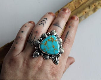 Turquoise Mountain Dream Ring (size 8)