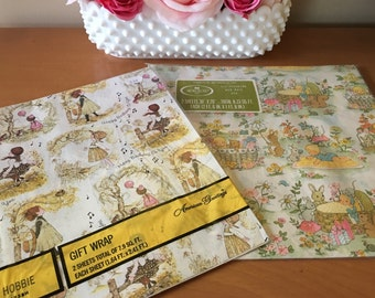 Vintage New Old Stock Gift Wrap - 2 Packages