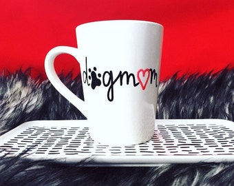 Dog Mom mug, Dog Mom cup, Animal Lover mug, Dog Mug, Dog Cup, Dog Lover Mug, Dog Lover Gift, Hand Painted mug, Gifts Under 15