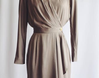 Dress Vintage Army Green Cross