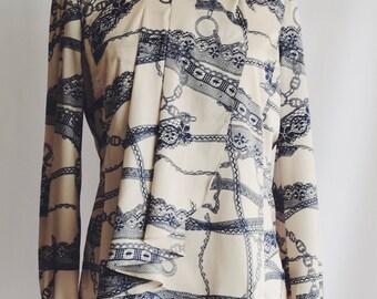 Beige blouse drawings Blue Navy