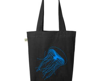 Jellyfish - jute bag