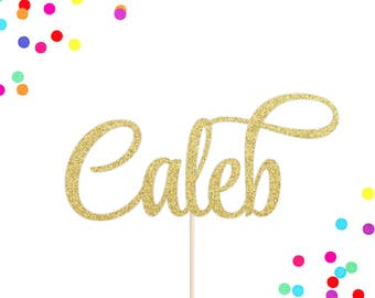 Personalized Name Cake Topper | Custom Name Cake Topper | Birthday Cake Topper | Birthday Party Decor | Custom Glittery Word Cake Topper