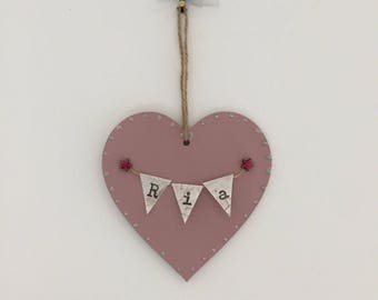 Birth announcement; hanging star