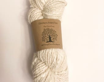 Handspun Yarn: Creme-German Angora and Alpaca Blend