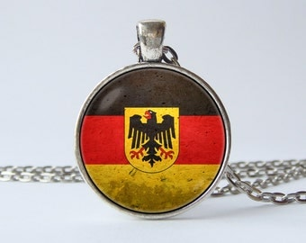 Necklace German flag German jewelry Flag of Germany pendant German pendant Germany jewelry Flag necklace National symbol Flags jewellery