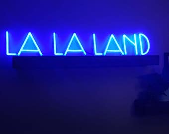 LA LA LAND. Handmade neon sign. Ready-made. Custom neon light. 51'' x 8''