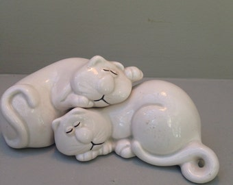 "Fitz and Floyd ""Cat Nap"" Salt and Pepper Shakers"