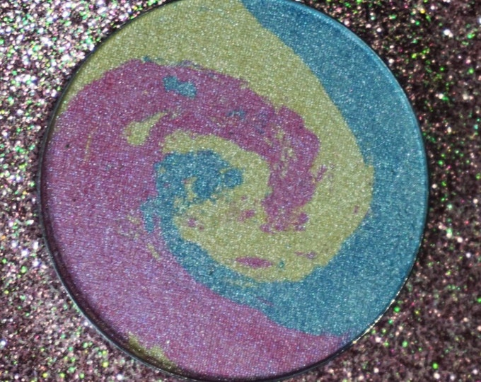 Midway Swirl - Pink, Yellow, Blue marbled highlighter Cotton Candy scented