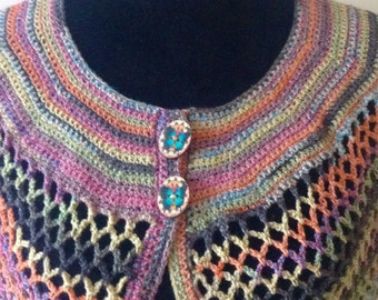 Cape Wrap Butterfly Buttons